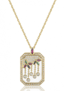 Chopard Yellow Gold Gem-Set Floral Pendant