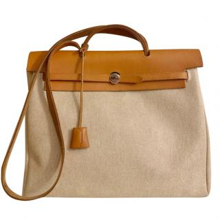Hermes Toile Canvas & Leather Herbag