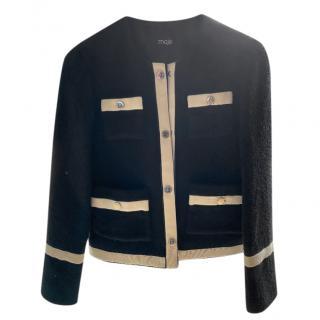 Maje Black/Ivory Tailored Jacket
