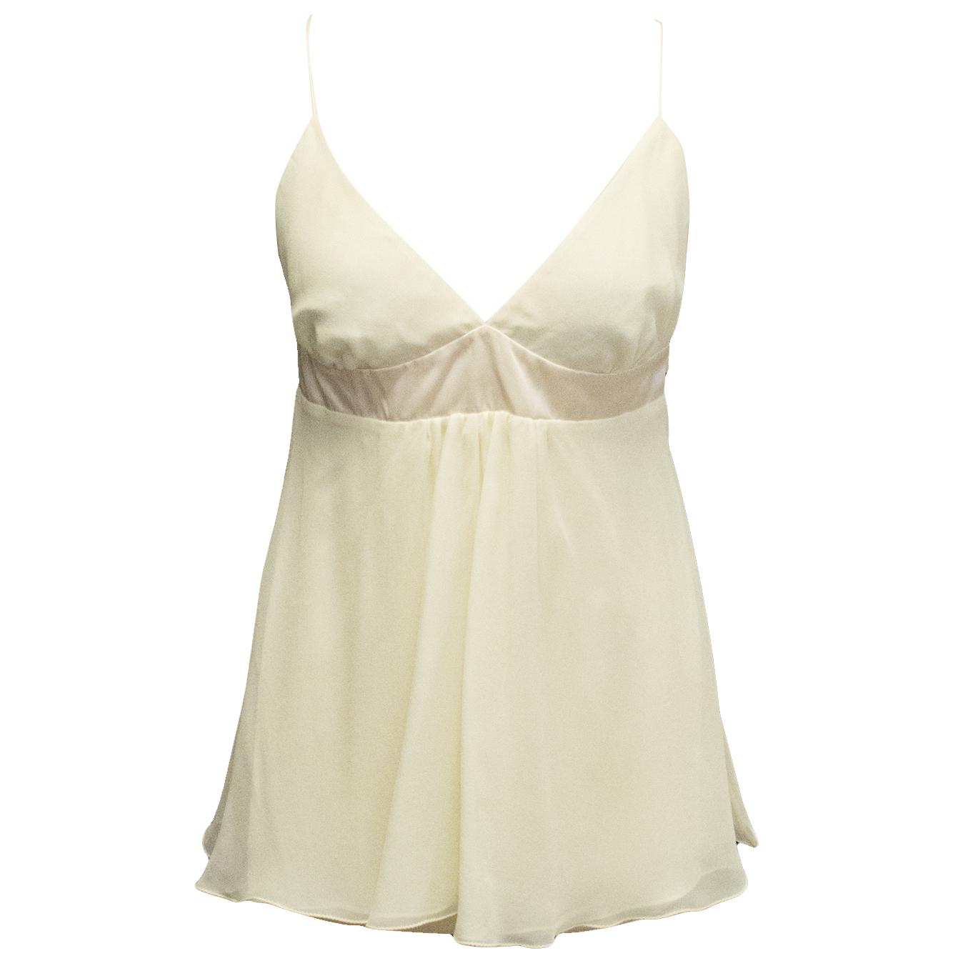 Tashia London cream silk empire line top