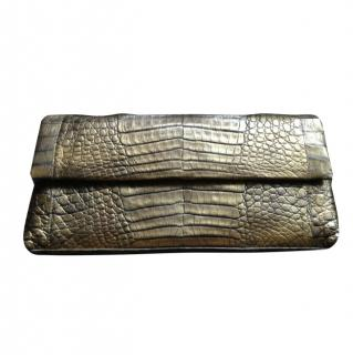 NEW nancy gonzalez crocodile clutch
