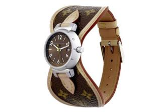 Louis Vuitton watch Tambour Brun small.