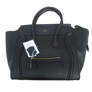 Celine Nano Luggage Black Tote Bag