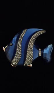 Swarovski Crystal Fish Brooch