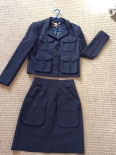 Mulberry skirt suit navy