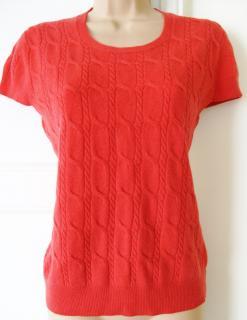 Aquascutum red/coral cardigan LARGE