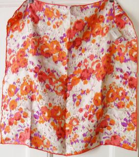 Liberty London silk printed floral scarf NEW