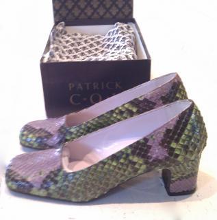 Patrick Cox Snake Skin Court Shoe