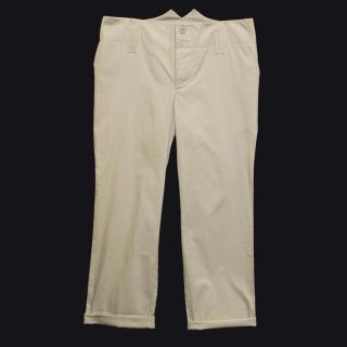 B Store cream cropped trousers