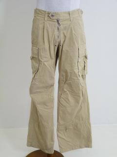 DSquared Beige Cotton Twill Cargo Pants