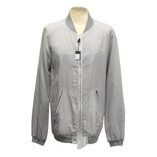 J.Lindeberg grey striped collarless jacket