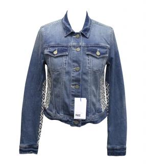 Paige Mosaic tile denim jacket