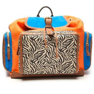 Pierre Hardy Colorful Suede and Leather Backpack