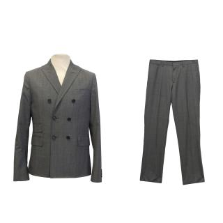 J. Lindeberg grey plaid slim fit suit