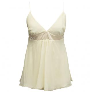 Tashia London cream silk empire line top