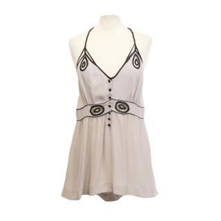 Yaya Aflalo Silk Embroidered Camisole