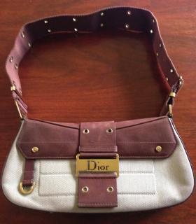 Christian Dior Avenue Canvas and Leather Bag