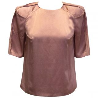 Eudon Choi pink silk top