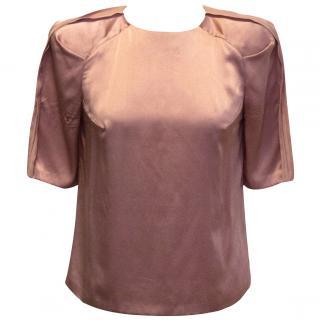Eudon Choi pink silk top