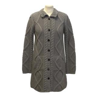 Bonpoint chunky grey cardigan