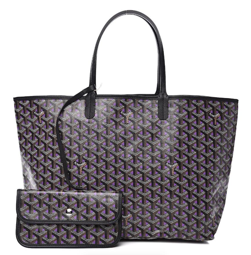 Goyard Black on Purple Goyardine Saint Louis Claire Voie PM