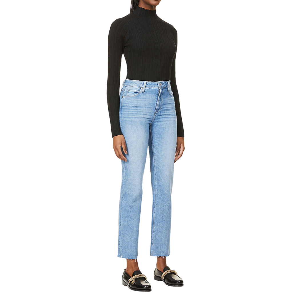 Paige Blue High Rise Sarah Straight Jeans