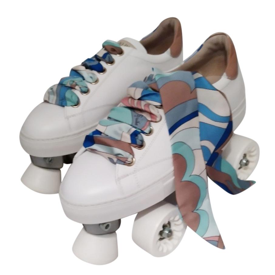 Emilio Pucci Limited Edition Ribbon Tie Quad Roller Skates
