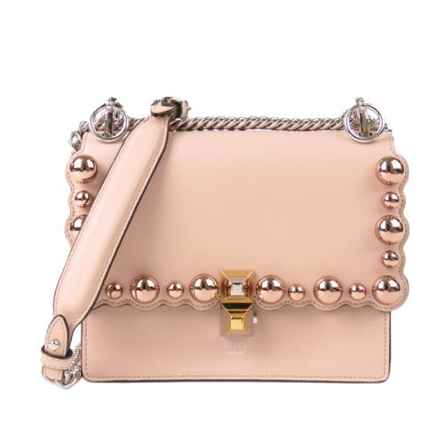 Fendi Scalloped Faux Pearl Small Kan I Shoulder Bag