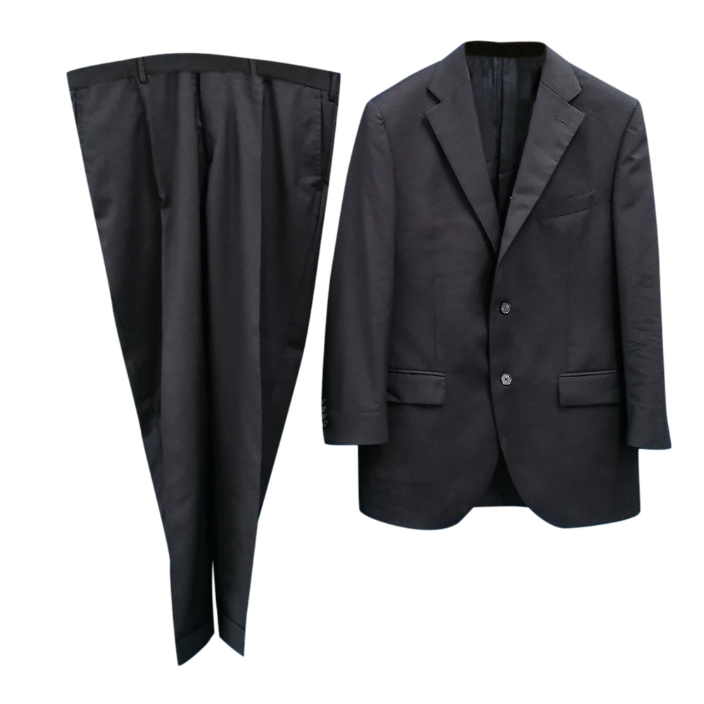 Harrods Mens Single Breasted Navy Suit