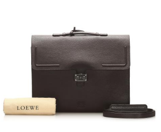 Loewe Brown Grained Leather Large Business/Travel Bag