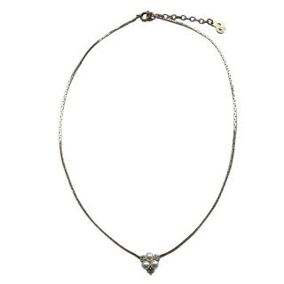 Christian Dior Vintage Seed Pearl Crystal Gold Tone Necklace