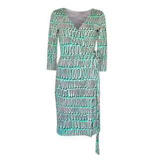 DVF Silk Jersey New Julian Two Wrap Dress