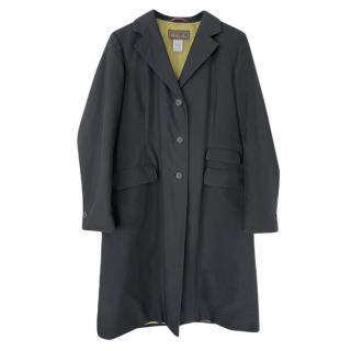 Loro Piana Black Single Breasted Tailored Coat