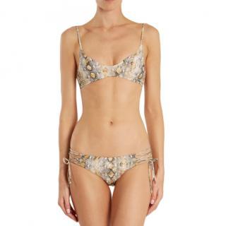 Melissa Odabash Snake Print Elba Lace-Up Bikini