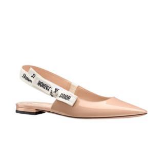 Dior Nude J'Adior Slingback Ballerina Flat
