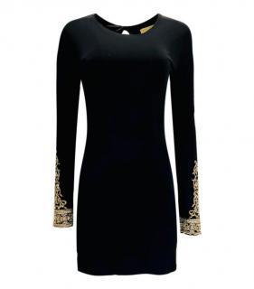 Melissa Odabash Black & Gold Embroidered Dress