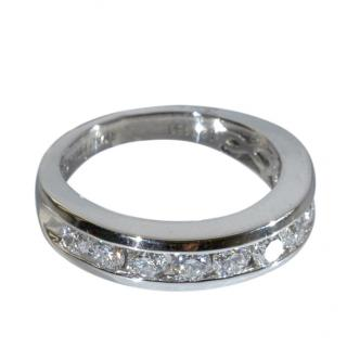 Bespoke Platinum Set Diamond Band Ring