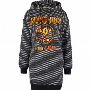 Moschino Couture Polka Dot Hooded Sweatshirt Dress