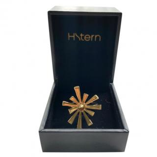 H Stern Gold Plated FLOW(er) Collection Ring