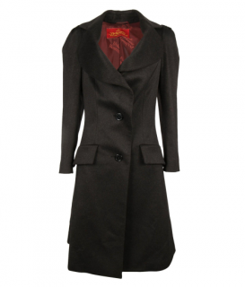 Vivienne Westwood Black Swing Wool Coat