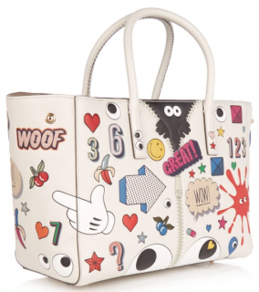 Anya Hindmarch All Over Stickers Ebury leather tote