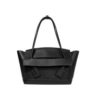 Bottega Veneta Black textured leather medium arco tote