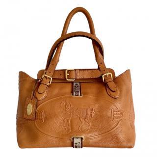 Fendi Selleria Tan Villa Borghese Shoulder Bag