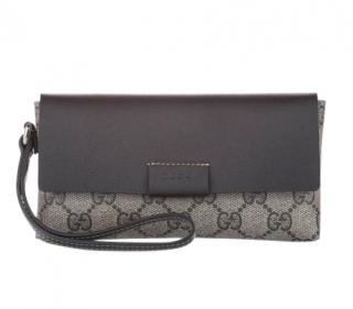 Gucci Supreme Monogram Leather Panelled Wristlet