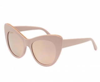 Stella McCartney Nude Chain Detail Cat-Eye Sunglasses