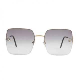 Cartier Panth�re de Cartier square-frame sunglasses