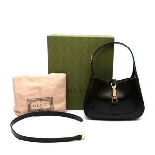 Gucci Black Leather Jackie 1961 Small Hobo Bag