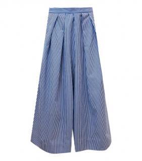J Crew Blue/White Striped Culottes