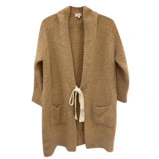 Claudie Pierlot Beige Knit Tie Front Cardign