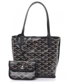 Goyard Black Goyardine Anjou Mini Bag